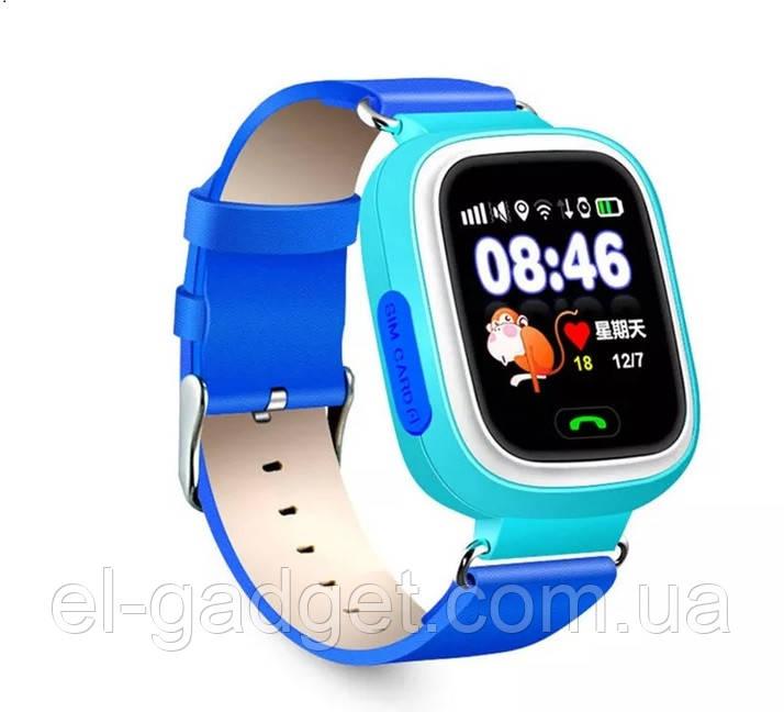 Смарт-часы детские умные Q90 оригинальные голубые