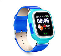 Смарт-часы детские умные Q90 оригинальные голубые, фото 1