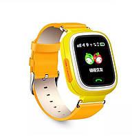 Смарт-часы детские умные Q90 оригинальные оранжевые