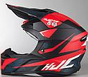 Мотошолом Hjc i50 Tona (Matt Black Red), фото 3