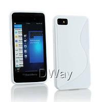Силиконовый чехол Duotone для BlackBerry Z10 белый