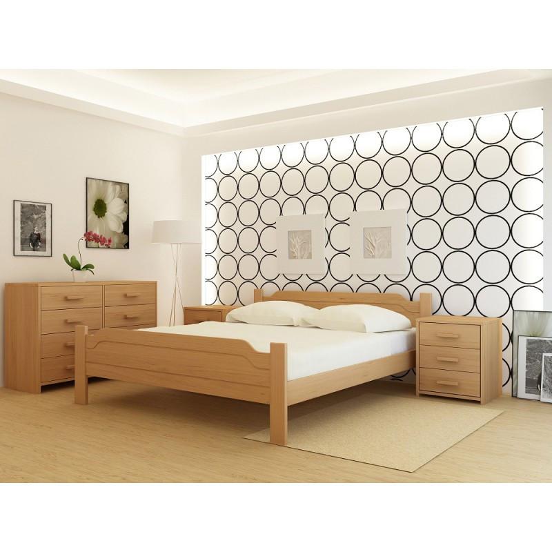 """Кровать деревянная TM """"YASON"""" Brussel Белый и RAL (Массив Ольхи либо Ясеня)"""