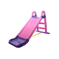 Детская горка (Розово-фиолетовая), спуск 140 см. Долони