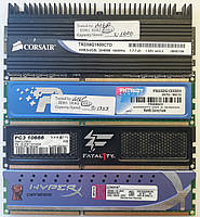 Игровая оперативная память DIMM DDR3 2Gb 1066-1600MHz Б/У Под ремонт и восстановление!, фото 1