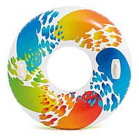 """Надувной круг Intex 58202 """"Вихрь"""", с ручками, 122 см"""