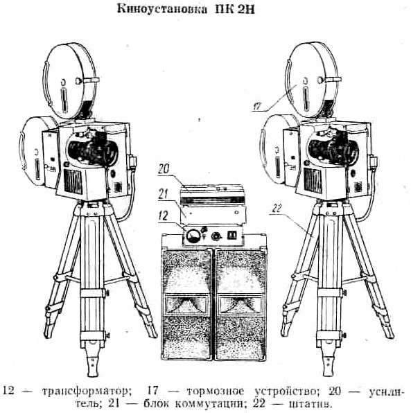 Киноустановка ПК-2Н 35мм (комплект)