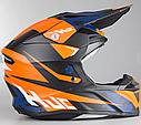 Шлем кроссовый Hjc i50 Tona (Orange), фото 2