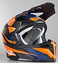 Шлем кроссовый Hjc i50 Tona (Orange), фото 3
