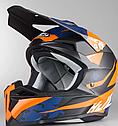 Шлем кроссовый Hjc i50 Tona (Orange), фото 4