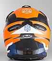 Шлем кроссовый Hjc i50 Tona (Orange), фото 5