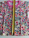 Футболка детская 260204102 рост 116,122, размер 64 ЦВЕТЫ розовый, фото 2