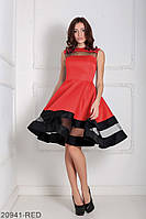 Очаровательное кукольное платье с пышной юбкой и вставками из сетки Valentine
