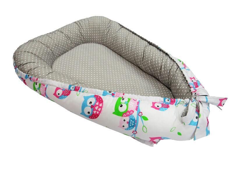 Кокон для новорожденных KIDIGO (Совы-горошек). КД321