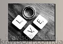 """Картина на холсте """"Love"""" ( 43.5х54 см )"""