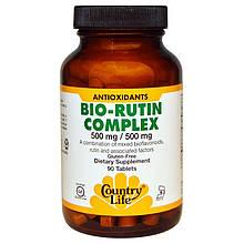 """Рутин с биофлавоноидами Country Life """"Bio-Rutin Complex"""" 500 мг (90 таблеток)"""