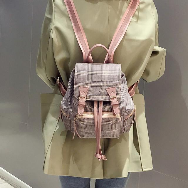Невеликий твідовий рюкзак рожевий