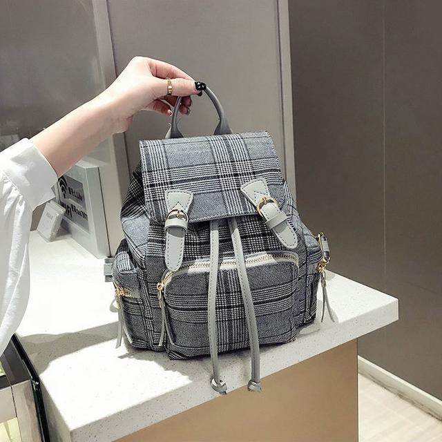 Невеликий твідовий рюкзак сірий