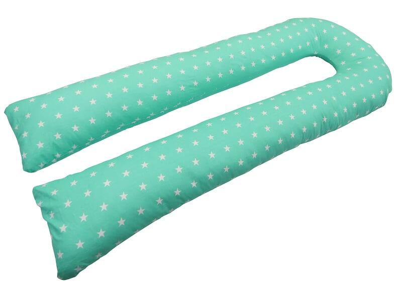 Подушка для беременных KIDIGO U образная Звезды (с наволочкой). КД333