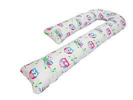 Подушка для беременных KIDIGO J  образная Сова (с наволочкой). КД341