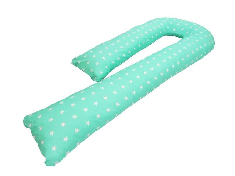 Подушка для беременных KIDIGO J  образная Звездочки (с наволочкой). КД342