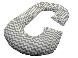Подушка для беременных KIDIGO Рогалик  Зигзаг (с наволочкой). КД346