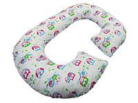 Подушка для беременных KIDIGO Рогалик  Сова (с наволочкой). КД350