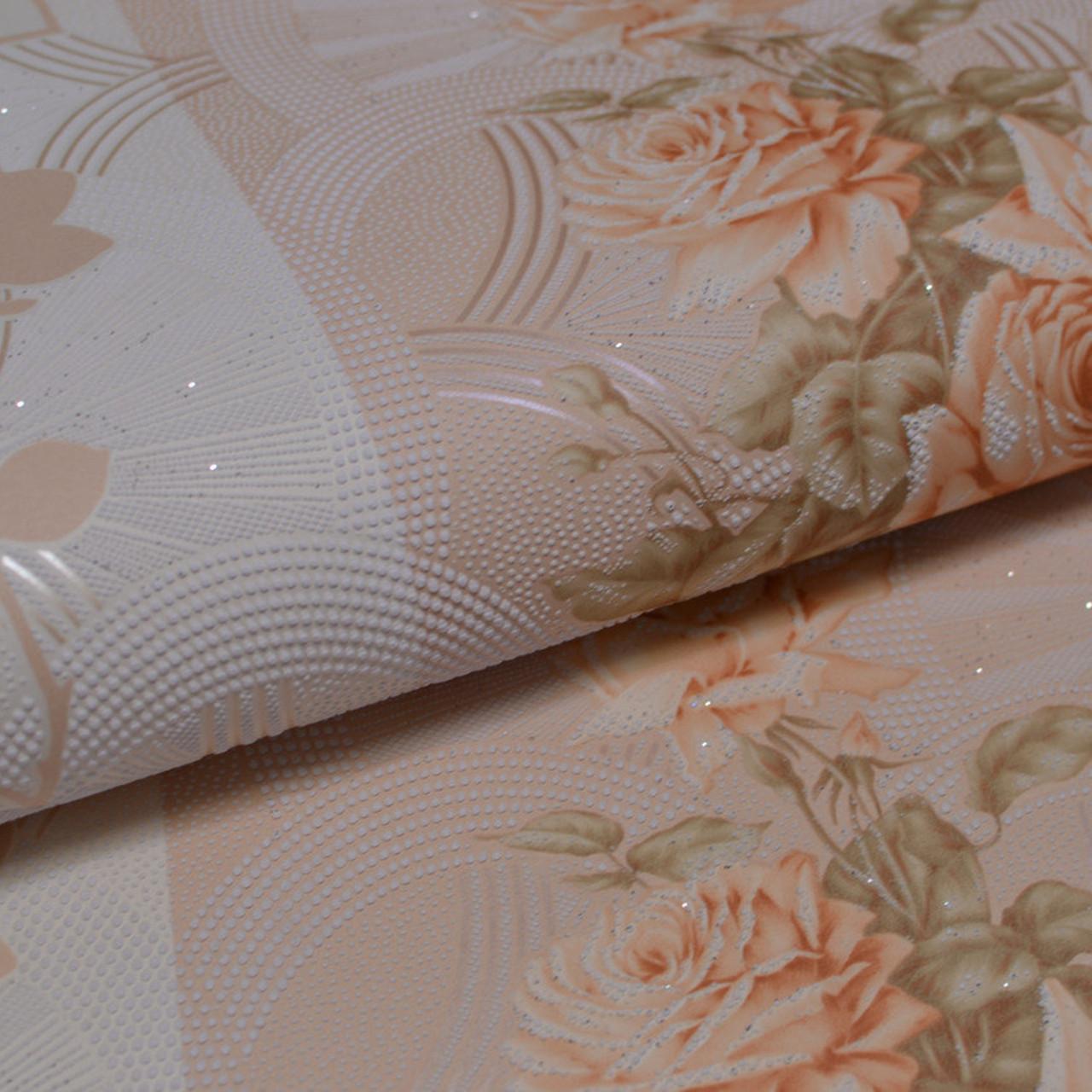 Обои, обои на стену,цветы, светлый, крупный рисунок, акрил на бумажной основе, B76,4 Корсика 7094-02, 0,53*10м
