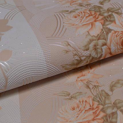 Обои, обои на стену,цветы, светлый, крупный рисунок, акрил на бумажной основе, B76,4 Корсика 7094-02, 0,53*10м, фото 2