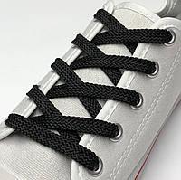Шнурки Черный плоские 120см 7мм Kiwi, фото 1