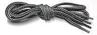 Шнурки Светло серый Темно серый круглые 120см 5мм Kiwi, фото 1