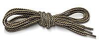 Шнурки Бежево черный круглые 120см 5мм Kiwi