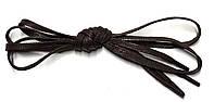 Шнурки Темно коричневый пропитаные плоские 70см 5мм Kiwi, фото 1