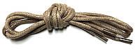Шнурки Темно бежевый пропитаные круглый 70см 4,0мм Kiwi, фото 1