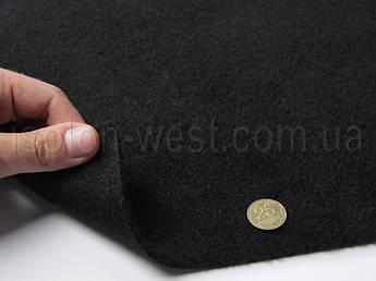 Авто-ковролин тягучий, черный шир. 1.7 м., ковролин для авто