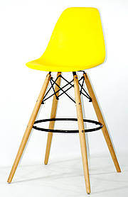 Полубарный стул Nik Eames, ярко-желтый