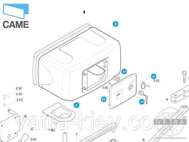 Корпус привода Came F1000 Ferni - 119rid122
