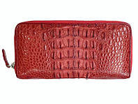 Кошелек женский из кожи Крокодила 19,5x10x2,5 см 1020. ZAM 11 T Red, фото 1