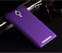 Пластиковый чехол для Lenovo P90 фиолетовый