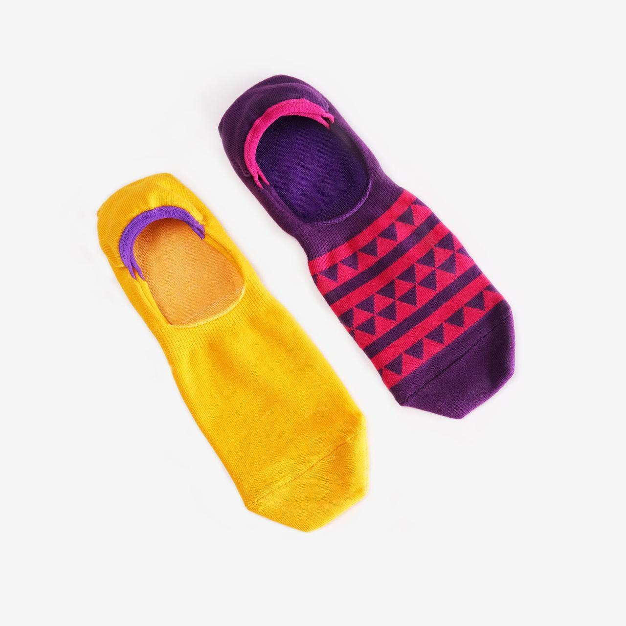 Носки-следы мужские Dodo Socks Yellow Submarine 42-43, набор 2 пары
