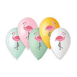 """Шар 14""""/35 см Gemar, Фламинго, Разноцветные"""