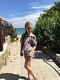 Модный детский комбинезон,ткань софт принт полоска,размеры:134,140,146,152., фото 3