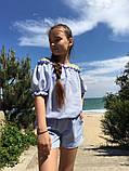 Модный детский комбинезон,ткань софт принт полоска,размеры:134,140,146,152., фото 4