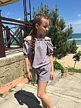 Модный детский комбинезон,ткань софт принт полоска,размеры:134,140,146,152., фото 5
