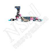 Шлейф SAMSUNG G935 S7 Edge с разъемом питания, микрофоном и вибромотором