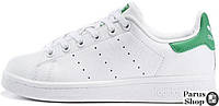 Женские кроссовки Adidas Stan Smith White/Green