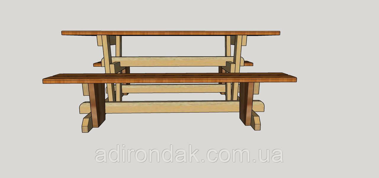 Проект стола для пікніка W1