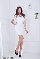 Элегантное платье футляр с расклешенными короткими рукавами  Ravi