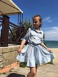 Нарядное детское летнее платье,ткань супер софт,размеры:134,140,146,152., фото 3