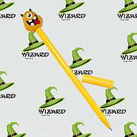 Ручка шариковая Монстрик желтый