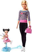 Оригинальный игровой набор Барби Тренер по фигурному катанию Barbie Ice Skating Coach Doll FXP38